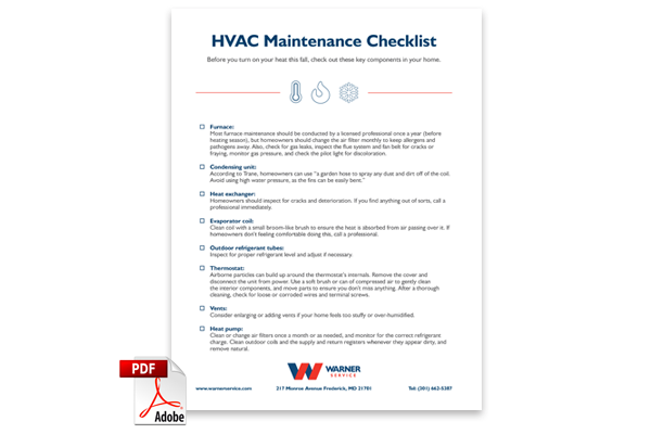 HVAC Maintenance Checklist