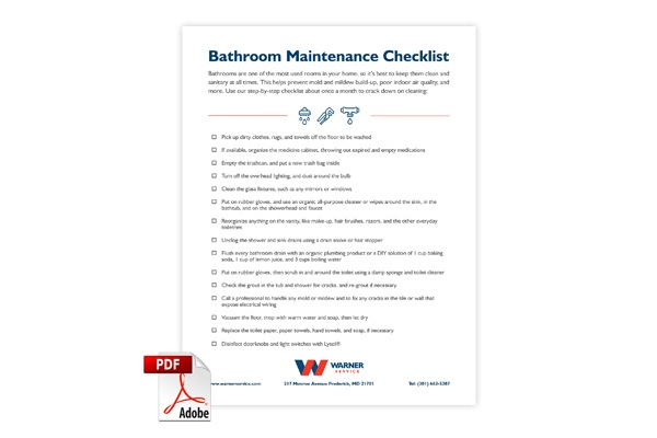 Bathroom Maintenance Checklist