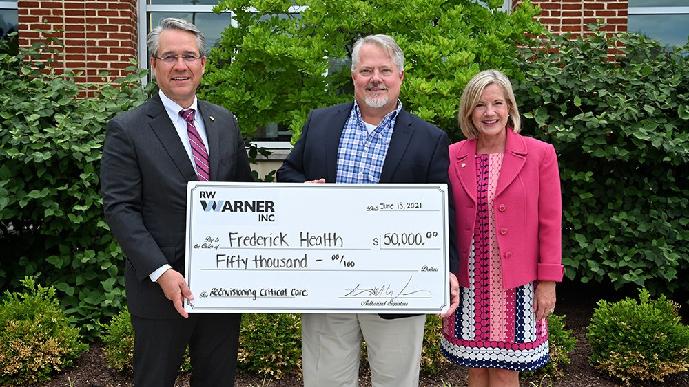 R.W. Warner Donates $50,000 to Frederick Health