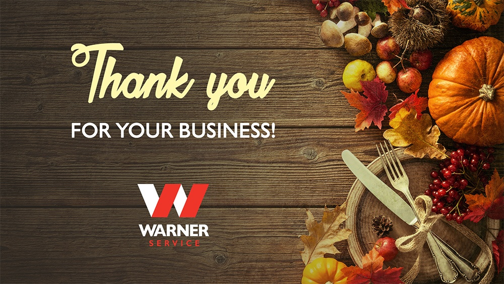 Happy Thanksgiving From Warner Service